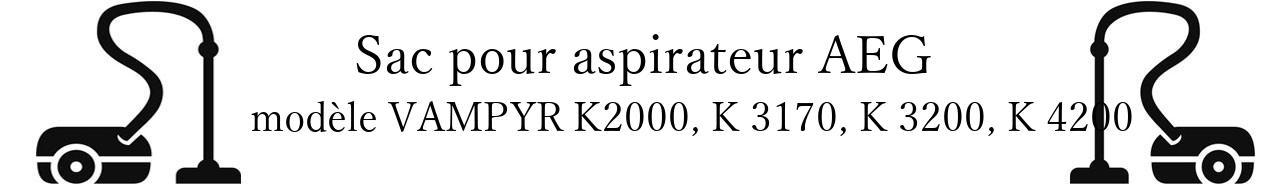 Sac aspirateur AEG VAMPYR K2000, K 3170, K 3200, K 4200 en vente