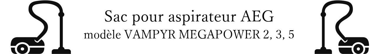 Sac aspirateur AEG VAMPYR MEGAPOWER 2, 3, 5 en vente