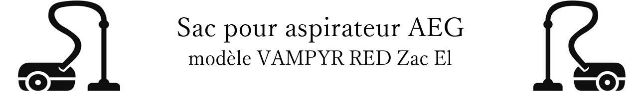 Sac aspirateur AEG VAMPYR RED Zac El en vente