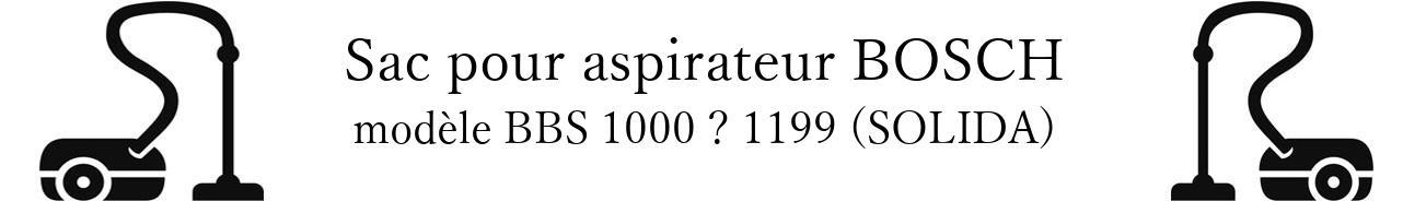 Sac aspirateur BOSCH BBS 1000  1199 (SOLIDA) en vente