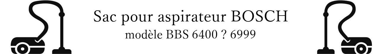 Sac aspirateur BOSCH BBS 6400  6999 en vente