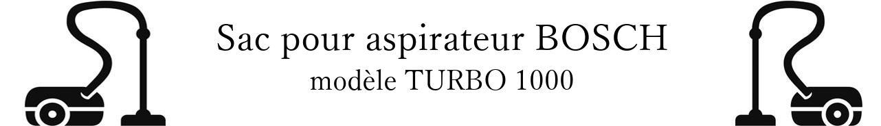 Sac aspirateur BOSCH TURBO 1000 en vente