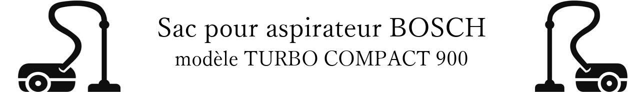 Sac aspirateur BOSCH TURBO COMPACT 900 en vente