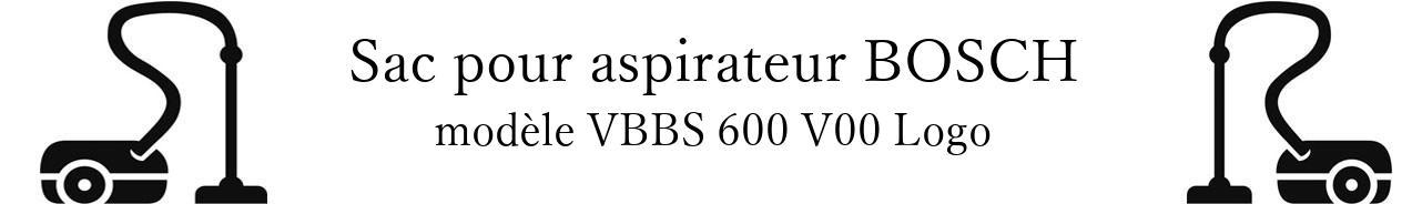 Sac aspirateur BOSCH VBBS 600 V00 Logo en vente