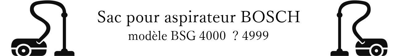 Sac aspirateur BOSCH BSG 4000   4999 en vente