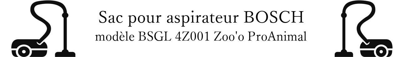 sac aspirateur BOSCH BSGL 4Z001 Zoo'o ProAnimal en vente