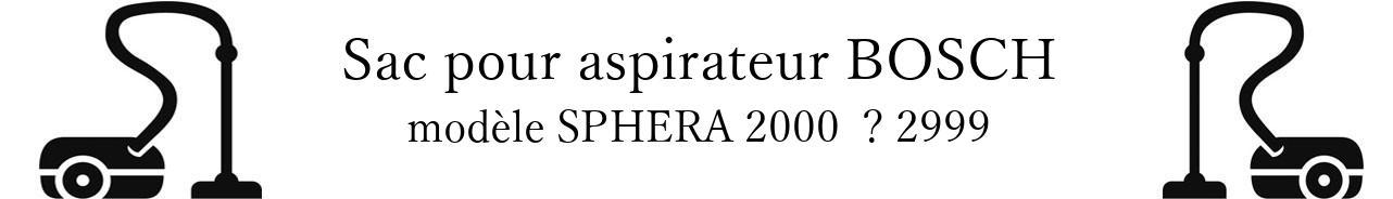 Sac aspirateur BOSCH SPHERA 2000   2999 en vente