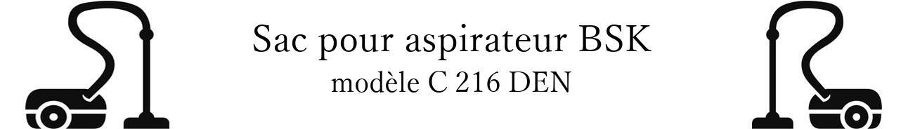 Sac aspirateur BSK C 216 DEN en vente
