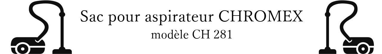 Sac aspirateur CHROMEX CH 281 en vente