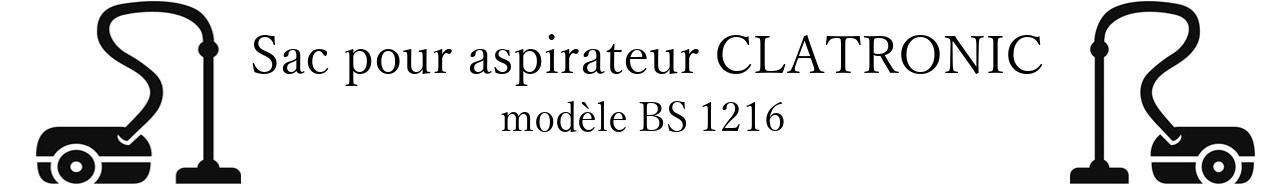 Sac aspirateur CLATRONIC BS 1216 en vente