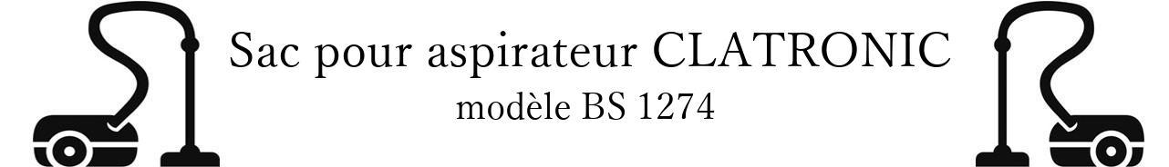 Sac aspirateur CLATRONIC BS 1274 en vente