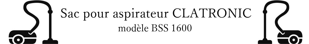 Sac aspirateur CLATRONIC BSS 1600 en vente