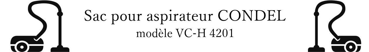 Sac aspirateur CONDEL VC-H 4201 en vente