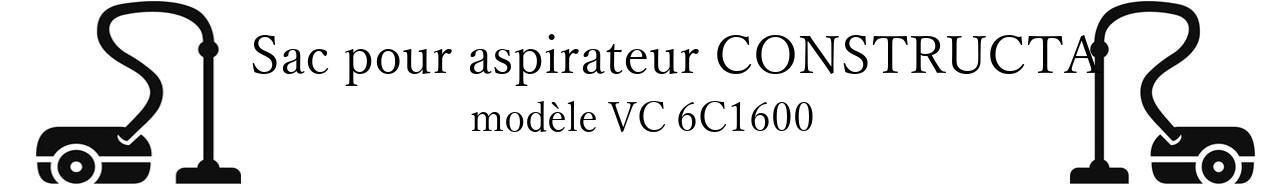Sac aspirateur CONSTRUCTA VC 6C1600 en vente
