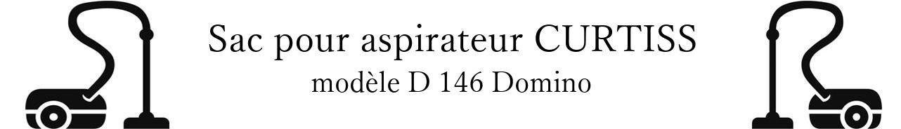 Sac aspirateur CURTISS D 146 Domino en vente