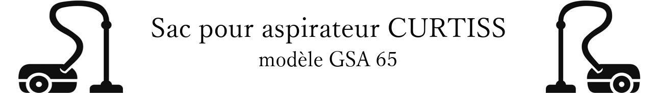 Sac aspirateur CURTISS GSA 65 en vente