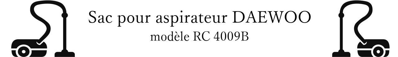 Sac aspirateur DAEWOO RC 4009B en vente