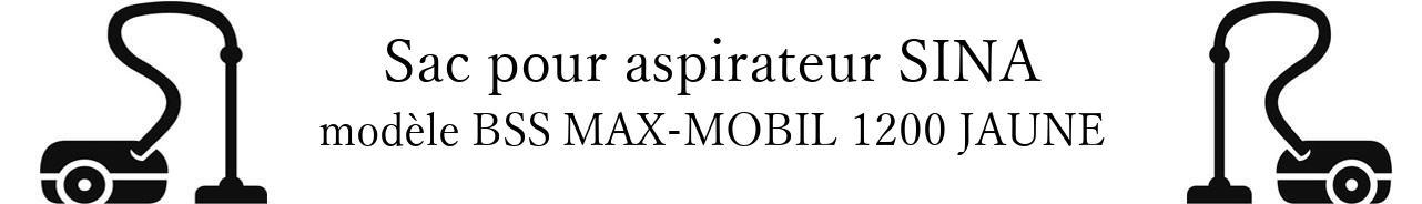 Sac aspirateur DE SINA BSS MAX-MOBIL 1200 JAUNE en vente