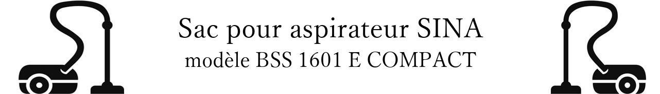 Sac aspirateur DE SINA BSS 1601 E COMPACT  en vente