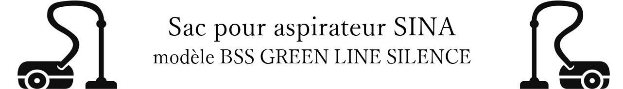 Sac aspirateur DE SINA BSS GREEN LINE SILENCE  en vente