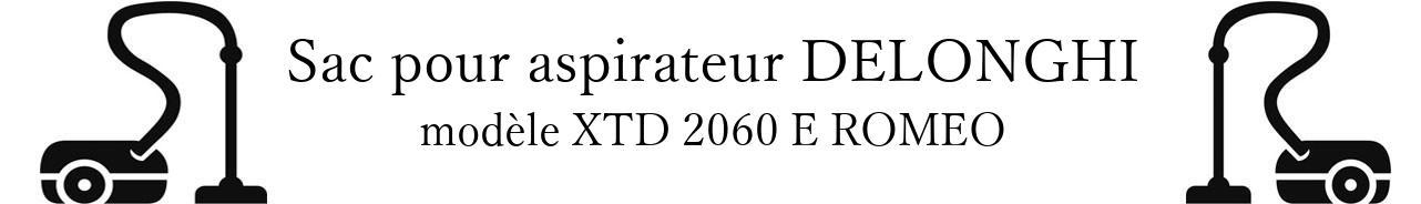 Sac aspirateur DELONGHI XTD 2060 E ROMEO en vente