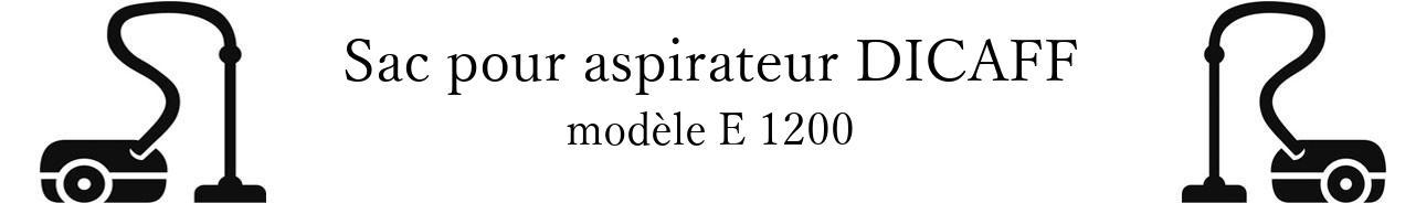 Sac aspirateur DICAFF E 1200 en vente