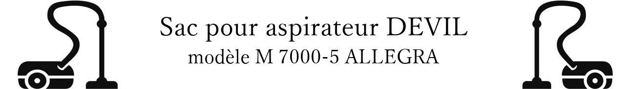 Sac aspirateur DIRT DEVIL M 7000-5 ALLEGRA en vente
