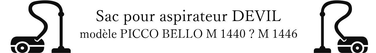 Sac aspirateur DIRT DEVIL PICCO BELLO M 1440  M 1446 en vente
