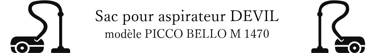 Sac aspirateur DIRT DEVIL PICCO BELLO M 1470 en vente