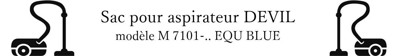 Sac aspirateur DIRT DEVIL M 7101-.. EQU BLUE en vente