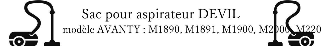 Sac aspirateur DIRT DEVIL AVANTY : M1890, M1891, M1900, M2000, M2200 en vente