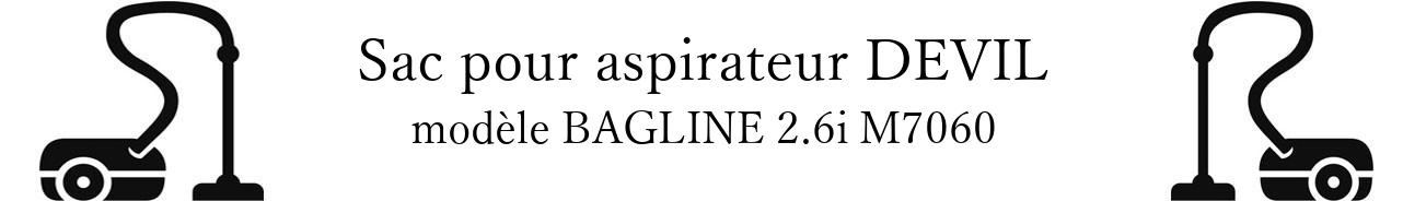 Sac aspirateur DIRT DEVIL BAGLINE 2.6i M7060 en vente
