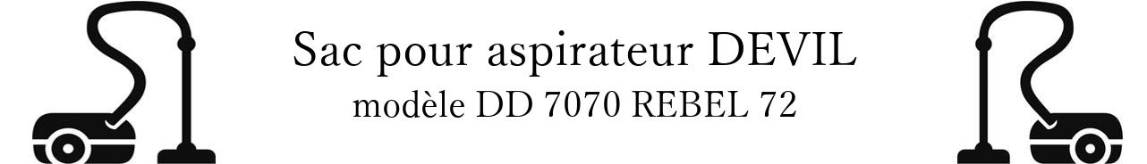 Sac aspirateur DIRT DEVIL DD 7070 REBEL 72 en vente