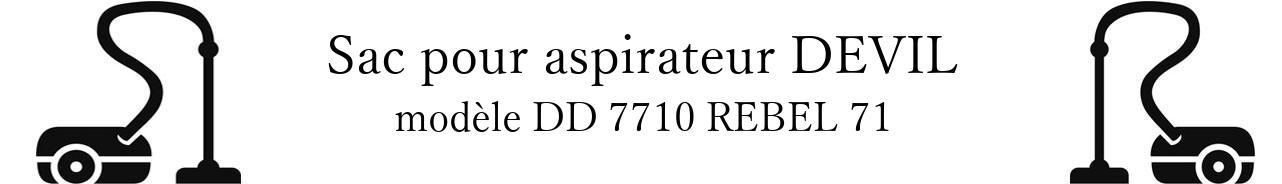 Sac aspirateur DIRT DEVIL DD 7710 REBEL 71 en vente
