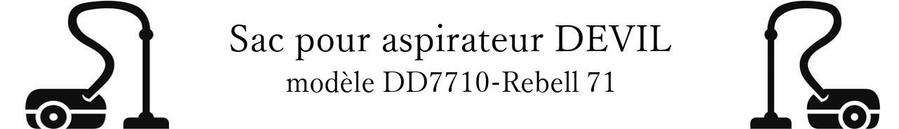 Sac aspirateur DIRT DEVIL DD7710-Rebell 71 en vente