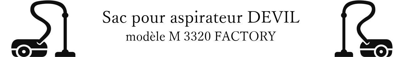 Sac aspirateur DIRT DEVIL M 3320 FACTORY en vente