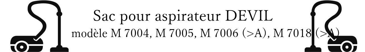 Sac aspirateur DIRT DEVIL M 7004, M 7005, M 7006 (>A), M 7018 (>A) en vente