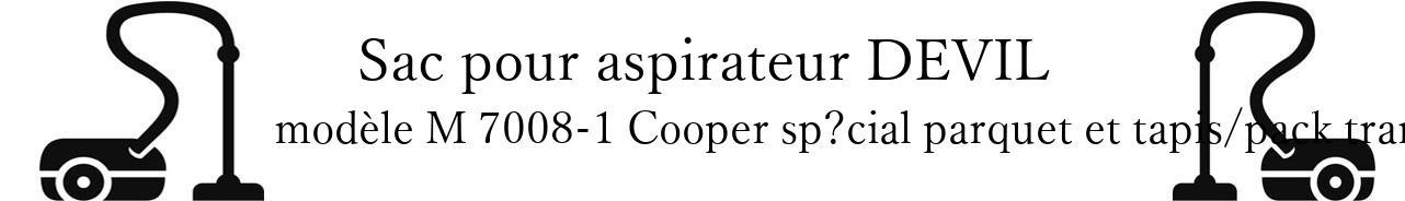 Sac aspirateur DIRT DEVIL M 7008-1 Cooper spcial parquet et tapis/pack tranquilit,539 en vente