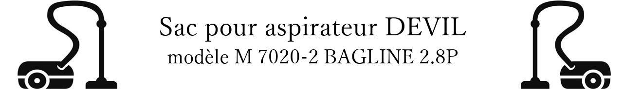 Sac aspirateur DIRT DEVIL M 7020-2 BAGLINE 2.8P en vente