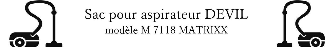 Sac aspirateur DIRT DEVIL M 7118 MATRIXX en vente