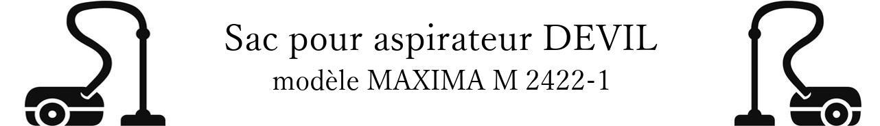 Sac aspirateur DIRT DEVIL MAXIMA M 2422-1 en vente