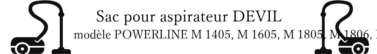 Sac aspirateur DIRT DEVIL POWERLINE M 1405, M 1605, M 1805, M 1806, M1808 en vente