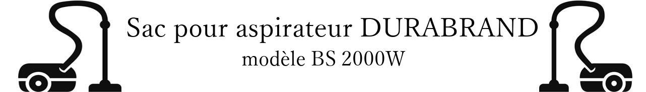 Sac aspirateur DURABRAND BS 2000W en vente