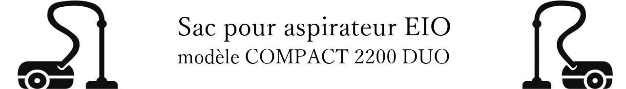 Sac aspirateur EIO COMPACT 2200 DUO en vente