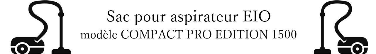 Sac aspirateur EIO COMPACT PRO EDITION 1500 en vente