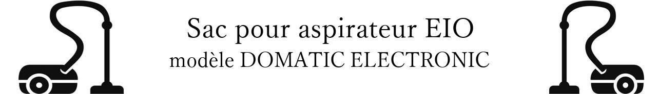 Sac aspirateur EIO DOMATIC ELECTRONIC en vente