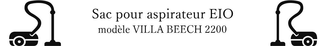 Sac aspirateur EIO VILLA BEECH 2200 en vente