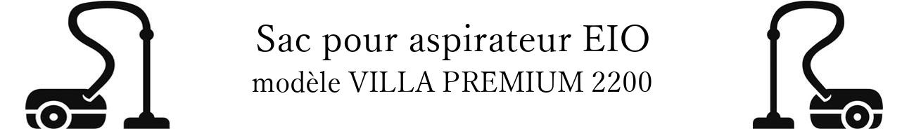 Sac aspirateur EIO VILLA PREMIUM 2200 en vente