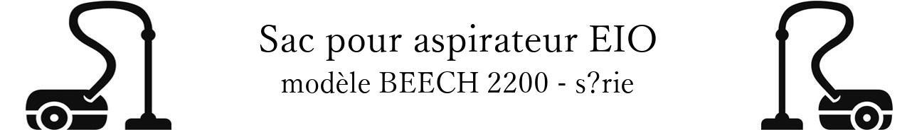 Sac aspirateur EIO BEECH 2200 - srie en vente