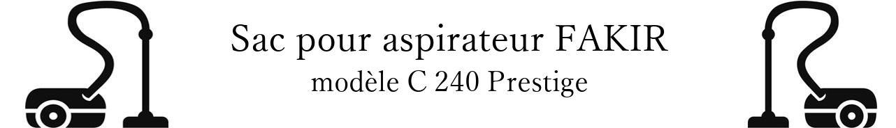 Sac aspirateur FAKIR C 240 Prestige en vente